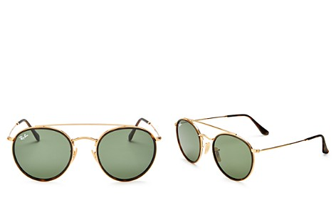 Ray-Ban Unisex Brow Bar Round Sunglasses, 50mm - Bloomingdale's_2