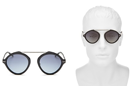 Dior Homme Men's Diorsystems Mirrored Brow Bar Round Sunglasses, 49mm - Bloomingdale's_2
