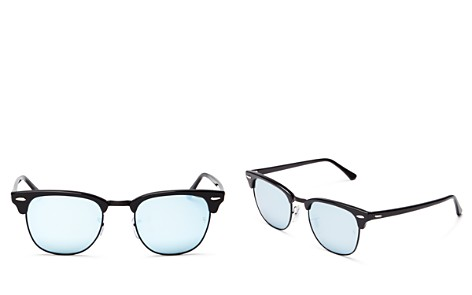 Ray-Ban Unisex Mirrored Clubmaster Sunglasses, 49mm - 100% Exclusive - Bloomingdale's_2