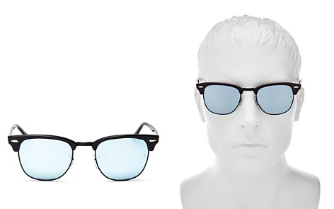 Ray-Ban Mirrored Clubmaster Sunglasses, 49mm - 100% Exclusive - Bloomingdale's_2