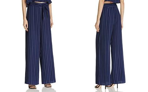 AQUA Stripe Tie Waist Wide Leg Pants - 100% Exclusive - Bloomingdale's_2