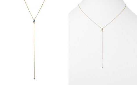 """Zoë Chicco 14K Yellow Gold Y Necklace with Diamond and Aquamarine, 18"""" - 100% Exclusive - Bloomingdale's_2"""