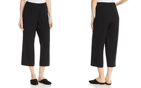 Eileen Fisher System Straight Crop Silk Pants - Bloomingdale's_2