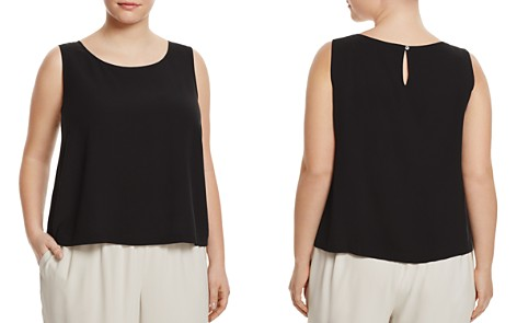 Eileen Fisher Plus System Silk Cropped Shell - Bloomingdale's_2