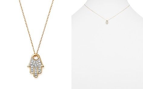 "Adina Reyter 14K Yellow Gold Pavé Diamond Hamsa Pendant Necklace, 15"" - Bloomingdale's_2"
