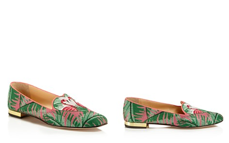 Charlotte Olympia Flamingo Smoking Slipper Flats - Bloomingdale's_2