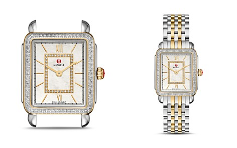 MICHELE Deco II Two-Tone Diamond Dial Watch Head, 26mm x 27.5mm - Bloomingdale's_2