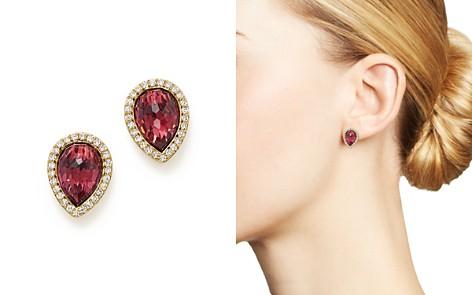 Rhodolite Garnet and Diamond Teardrop Earrings in 14K Yellow Gold - 100% Exclusive - Bloomingdale's_2