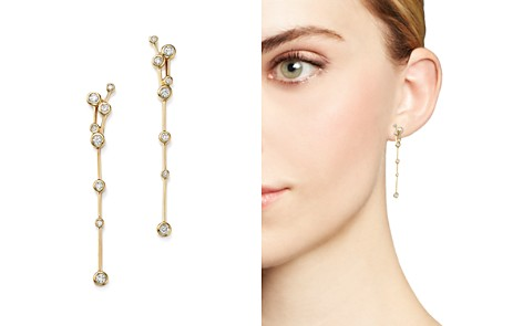 Diamond Station Linear Earrings in 14K Yellow Gold, .50 ct. t.w. - 100% Exclusive - Bloomingdale's_2