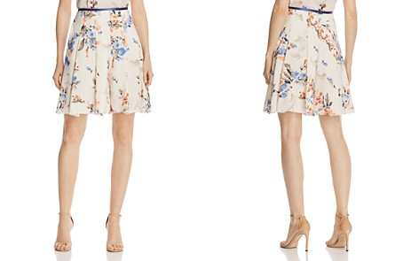 Armani Collezioni Floral-Print Flared Shorts - Bloomingdale's_2