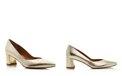 Stuart Weitzman Everyday Metallic Pointed Toe Pumps - Bloomingdale's_2
