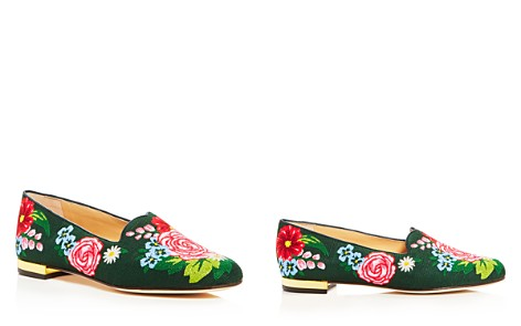 Charlotte Olympia Rose Garden Embroidered Smoking Slippers - Bloomingdale's_2