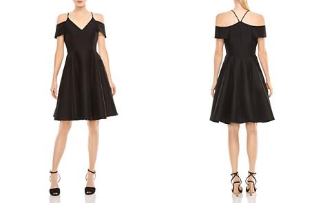 HALSTON HERITAGE Cold-Shoulder Fit-and-Flare Dress - Bloomingdale's_2