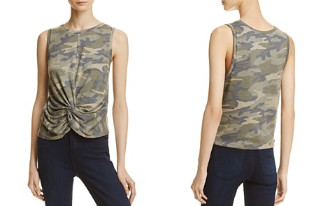 AQUA Camouflage Twisted-Front Tank - 100% Exclusive - Bloomingdale's_2