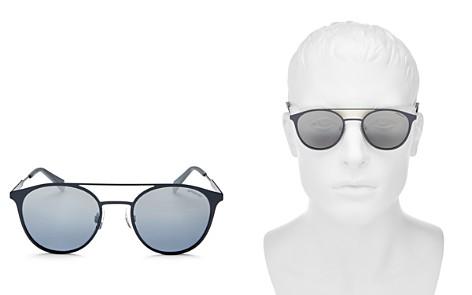 Polaroid Mirrored Polarized Brow Bar Round Sunglasses, 50mm - Bloomingdale's_2