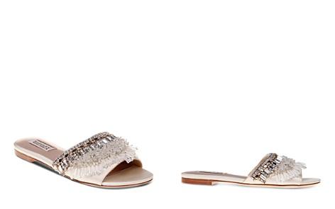Badgley Mischka Kassandra Embellished Satin Slide Sandals - Bloomingdale's_2