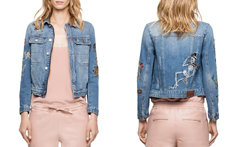 Zadig & Voltaire Kioky Embroidered Denim Jacket - Bloomingdale's_2