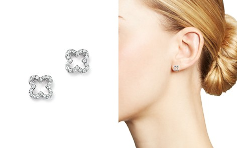 Diamond Clover Stud Earrings in 14K White Gold, .20 ct. t.w. - 100% Exclusive - Bloomingdale's_2