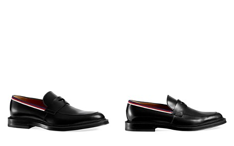 Gucci Leather Loafers with Grosgrain Web Detail - Bloomingdale's_2