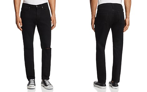 FRAME L'Homme Skinny Fit Jeans in Noir Slits - GQ60, 100% Exclusive - Bloomingdale's_2