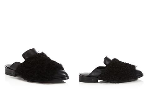 Freda Salvador Dorinda Fur & Leather Pointed Toe Mules - Bloomingdale's_2