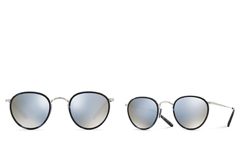 Oliver Peoples MP-2 Mirrored Round Sunglasses, 48mm - Bloomingdale's_2
