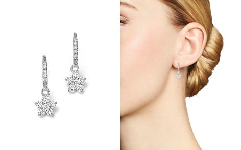 Diamond Flower Small Drop Earrings in 14K White Gold, .60 ct. t.w. - 100% Exclusive - Bloomingdale's_2