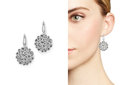 Roberto Coin 18K White Gold Moresque Diamond Earrings - Bloomingdale's_2