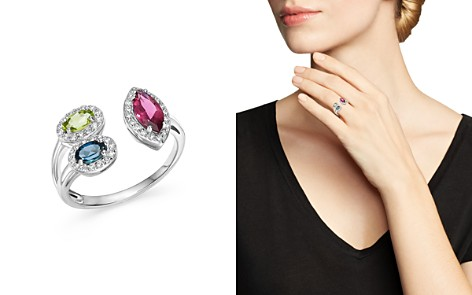 Multi Gemstone and Diamond Open Ring in 14K White Gold - 100% Exclusive - Bloomingdale's_2