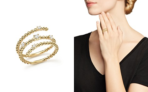 Diamond Triple Row Beaded Band in 14K Yellow Gold, .15 ct. t.w. - 100% Exclusive - Bloomingdale's_2