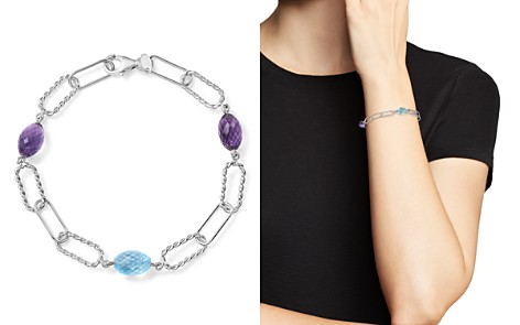 Amethyst and Blue Topaz Twisted Link Bracelet in Sterling Silver - 100% Exclusive - Bloomingdale's_2