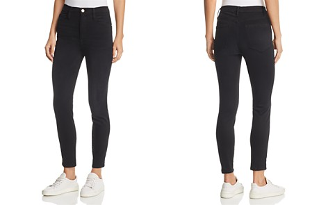 FRAME Ali High Rise Cigarette Jeans in Noir - Bloomingdale's_2