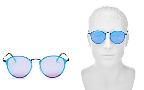 Ray-Ban Blaze Rimless Round Sunglasses, 59mm - Bloomingdale's_2