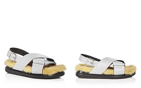 Marni Women's Fusbett Leather & Mink Sandals - Bloomingdale's_2