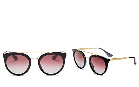 Prada Women's Polarized Round Sunglasses, 52mm - Bloomingdale's_2