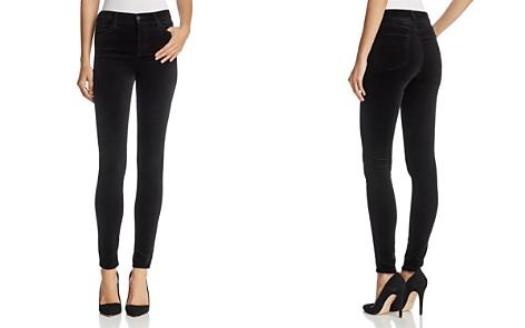 J Brand Maria Velvet Skinny Jeans in Black - Bloomingdale's_2