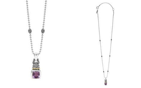 "LAGOS 18K Gold and Sterling Silver Caviar Color Necklace with Amethyst, 16"" - Bloomingdale's_2"