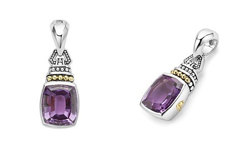 LAGOS 18K Gold and Sterling Silver Caviar Color Amethyst Pendant - Bloomingdale's_2