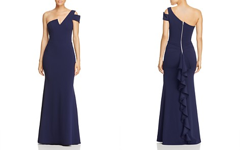AQUA One-Shoulder Ruffled Gown - 100% Exclusive - Bloomingdale's_2