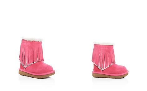 UGG® Girls' Classic Short II Fringe Suede & Shearling Boots - Walker, Toddler - Bloomingdale's_2