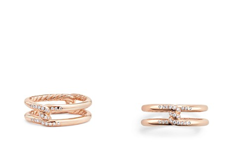 David Yurman Continuance Knot Ring with Diamonds in 18K Rose Gold - Bloomingdale's_2