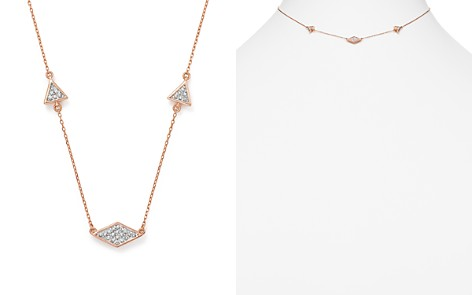 "Adina Reyter 14K Rose Gold Pavé Diamond Triangle Necklace, 12.5"" - Bloomingdale's_2"