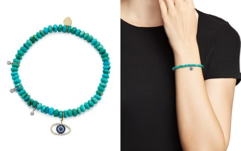 Meira T 14K White and Yellow Gold Turquoise Beaded Bracelet with Sapphire and Diamond Evil Eye Charm - Bloomingdale's_2
