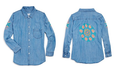 Rails Girls' Batista Embroidery Chambray Button-Down Shirt - Little Kid, Big Kid - Bloomingdale's_2
