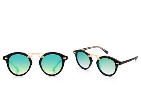 Krewe STL II 24K Mirrored Round Sunglasses, 48mm - Bloomingdale's_2