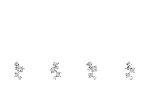 David Yurman Precious Châtelaine Climber Earrings with Diamonds in 18K White Gold - Bloomingdale's_2