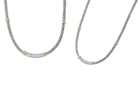 """LAGOS 18K Gold and Sterling Silver Diamond Lux Station Necklace, 16"""" - Bloomingdale's_2"""