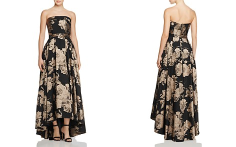 Avery G Floral Strapless Gown - Bloomingdale's_2