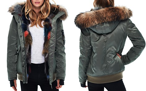 SAM. Multi Luxe Sloane Fur-Lined Down Bomber Jacket - Bloomingdale's_2