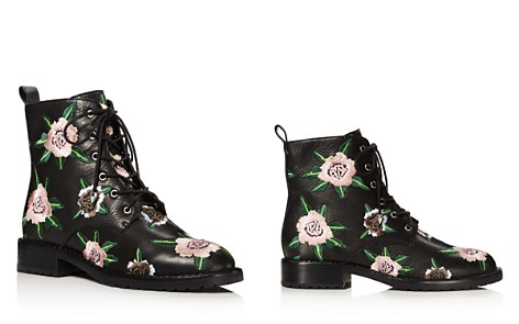 Rebecca Minkoff Women's Gerry Floral Embroidered Leather Combat Booties - Bloomingdale's_2